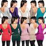 Feinstrick Lurex Pullover Pulli Sweater Kette V-Neck glänzend sexy S 32 34 36