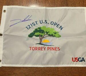 Jon Rahm Signed 2021 US Open Flag Torrey Pines Masters U.S. Auto SIGNED 9/15/21
