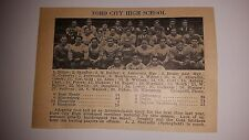 Ford City High School & Freedom Pennsylvania 1926 Football Team Picture