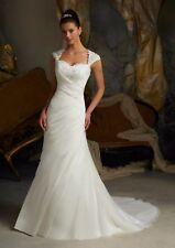 Luxury Organza Wedding Dresses Size 8 10 12 14 16 18 Custom Made UK Stock