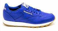 Reebok Classic Leather Croyal Blue, White, Gum Mens Running Tennis Shoes FX1318