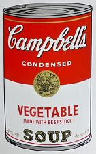 ANDY WARHOL CAMPBELLS' VEGETABLE Soup Can SUNDAY B.MORNING Silkscreen Print COA