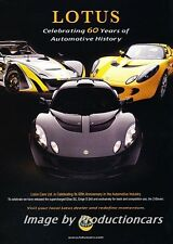 2006 2007 Lotus Exige Elise 60year Original Advertisement Print Art Car Ad J693