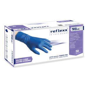 Reflexx R98 cf 50 guanti Hi-Risk blu in lattice taglia M senza polvere
