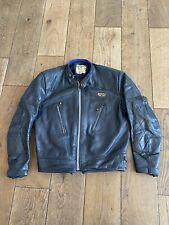 "RARE BLUE LEWIS LEATHERS Aviakit PhantoM MOTORCYCLE JACKET SIZE 38"" Chest"