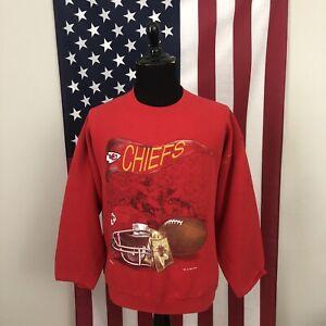 XL vintage 90s Kansas City Chiefs football sweatshirt men's nutmeg KC 5e882p