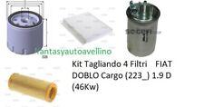 Kit Tagliando 4 Filtri    FIAT DOBLO Cargo (223_) 1.9 D (46Kw)