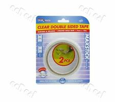 2 pc Double Sided Tape 7mmx10M Thin Clear