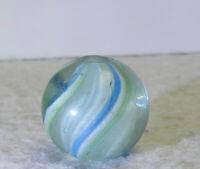 #12835m Vintage German Handmade Latticino Swirl Marble .65 Inches