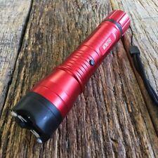 Red MONSTER Metal Stun Gun 16 Million Volt Rechargeable LED Flashlight New! K