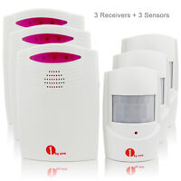 3Pack Wireless Driveway Patrol Motion Sensor Alert Alarm System Kit Long Range