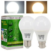 B22 E27 ES BC 8W 10W 12W Dimmable LED Ampoule de golf 2835 SMD Blanc chaud/Froid