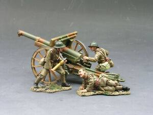 King & Country FOB031 French Army 75mm Gun Cannon Artillery Piece & 3 Crew New