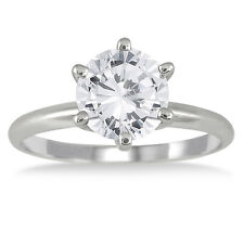 Cyber Monday 2 Ct Ideal Round Diamond Engagement Ring 14k Solid White Gold