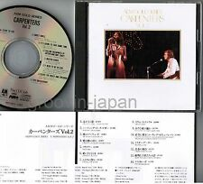 CARPENTERS A&M Gold Series Vol.2 JAPAN MAIL ORDER-ONLY CD FOCP30029 w/PS Free SH