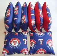 TEXAS RANGERS CORNHOLE BEAN BAGS SET OF 8 TOP QUALITY TOSS GAME