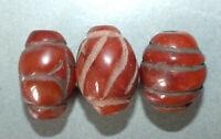 Three Carnelian Beads Nepal