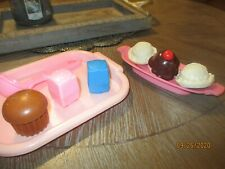 New ListingVtg Fisher Price Fun with Play Food Pink & Blue Salt Pepper Ice Cream Tray etc.