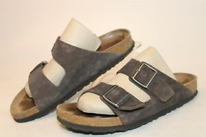 Birkenstock Womens Size 9 40 Arizona Suede Soft Footbed Slide Germany Made Shoes