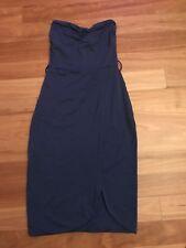 Ladies Cute Blue Nylon Strapless Dress By Kookai - Size 1 - Aus 6/8 - Cheap