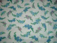 Vtg 50s Full Feedsack Small Pink Blue Mint Green Gladiolas Floral Quilt 40x36 bd