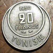 PIECE DE 20 FRANCS TUNISIE 1950 (198)