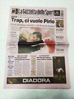 GAZZETTA DELLO SPORT 15 GIUGNO 2004 EUROPEI PORTUGAL 2004 ITALIA-DANIMARCA 0-0