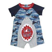 Mud Pie Shark Tank Collection Camo Print, Snap Mouth Shorts Romper