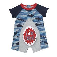 58893cb12a3b Mud Pie Baby Boy Camo Shark Snap Mouth One-piece Shortall Sz 6-9