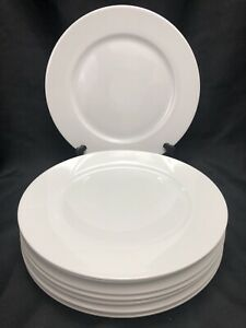 """Lot 8 Porcelain Tognana Ovenware 12.5"""" Large Dinner Plates ITALY"""