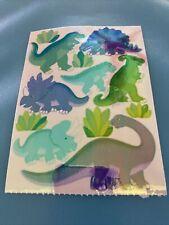 Sandylion Vtg Sticker Opal Pearly MOP Pastel Dinosaurs Maxi Sheet