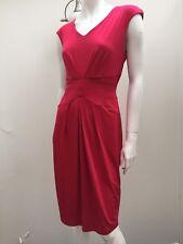 Basque sz 10 Stretch Pleated Knee Length Pink Dress