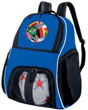 Soccer Flag Ball Ball Bag Blue SOCCER BASKETBALL BACKPACK SPORTS BALL BAGS