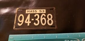 Vintage 1950's Massachusetts  BICYCLE LICENSE PLATE