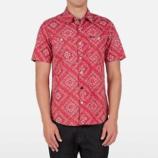 VOLCOM Men's BOOMER S/S Woven Button Shirt - RED - XSmall - NWT