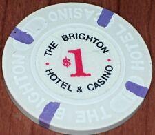 $1 1ST EDT GAMING CHIP FROM THE BRIGHTON CASINO ATLANTIC CITY NJ