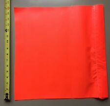 2 Safety Flag SF 16 16Inch  Vinyl Safety Flags, Red/Orange Traffic Pair