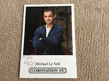 MICHAEL LE VELL ITV CORONATION STREET PRE PRINTED SIGNED CARD - MINT CONDITION