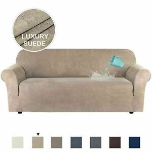 Water Repellent Stretch Suede Sofa Covers Couch Covers Slip Covers Soft Non Slip