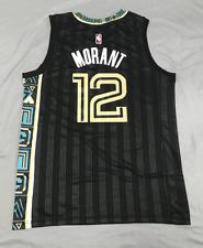 Ja Morant #12 Memphis Grizzlies 20-21 Season Away Jersey Black Men Size M L XL