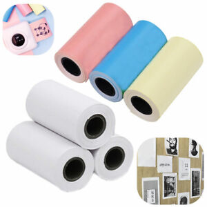 3 Rolls Thermal Printer Sticker Paper A6 57mm*30mm For Peripage Paperang P1 Gift