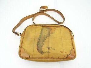 Vintage Alviero Martini Crossbody Bag leather 1A CLASSE Geo Print Satchel Strap