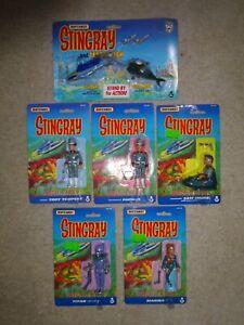 STINGRAY RARE FULL SET FIGURES AND STINGRAY AND TERROR FISH SEALED matchbox 1993