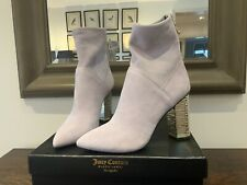Juicy Couture Alessia Suede Healed Ankle Boots Size 38  UK 5 - Lilac