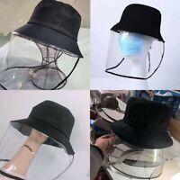Mens Women Protective Cap Anti Saliva Full Face Shield  Hat Clear Mask