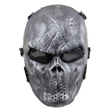 Airsoft Paintball Full Face Skull Skeleton Game Mask Tactical Military Halloween