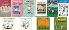 Charles Schultz PEANUTS Charlie Brown Snoopy Books & Sticker lot of 10