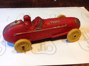 """Vintage 6"""" Auburn Rubber RACE CAR - Plastic Wheels"""