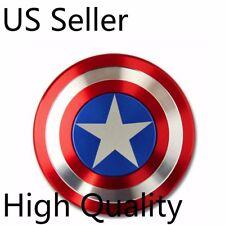 USA Stock Captain America Shield Metal Hand Fidget Spinner Focus Toy EDC Kids