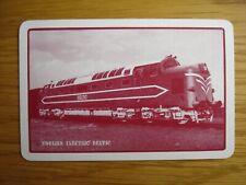 Single Playing Card.  Advertising English Electric. Prototype Deltic Locomotive.